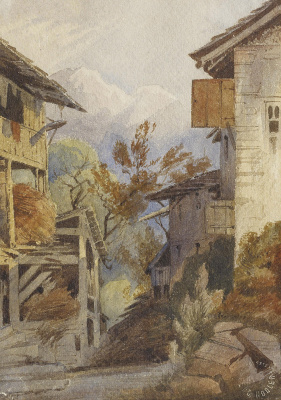 Фердинанд Ходлер. Сельский дом в Савойе