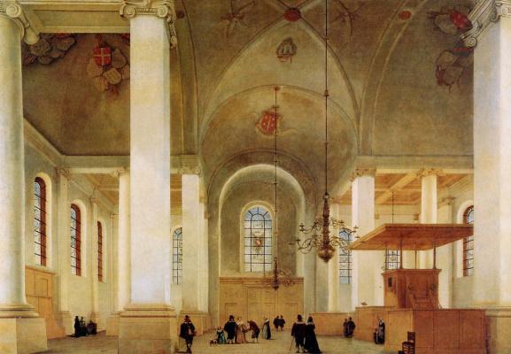 Питер Джансс Сенредам. Новая церковь Харлем