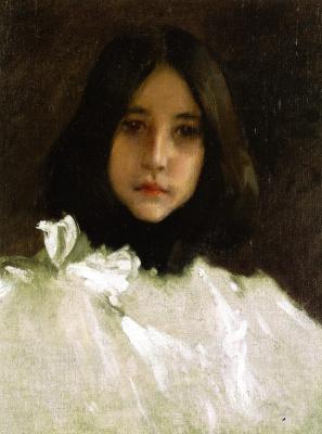 Уильям Меррит Чейз. Портрет дочери художника