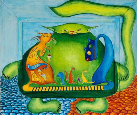 Tatiana Georgievna Kostenko. Traffic light in the city of cats