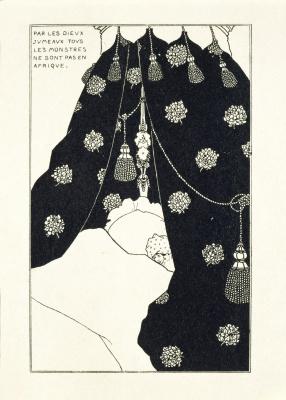 Aubrey Beardsley. Self-portrait in bed