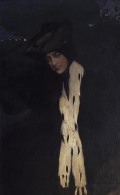 Pavel Dmitrievich Shmarov Russia - France 1874 - 1950. Portrait of a woman (Anna Pavlova) 1900s — 1910s.