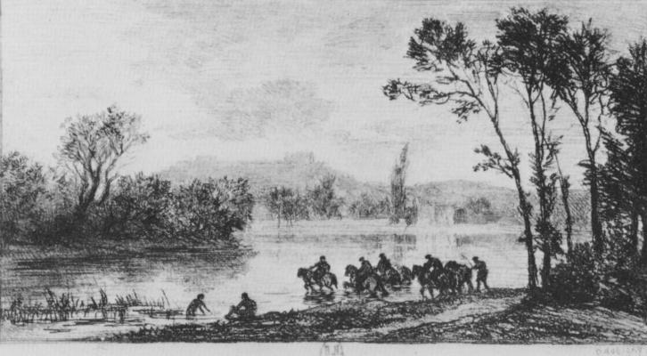 Charles-Francois Daubigny. Small riders