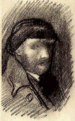 Vincent van Gogh. Self-portrait in a hat