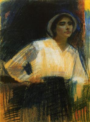Alexander Murashko. Portrait of artist Frida Meyerson