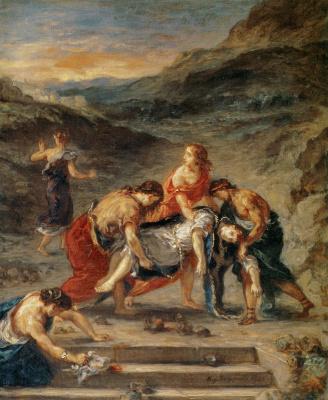 Эжен Делакруа. Святой Стефан, уносимый его учениками