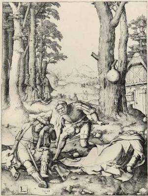 Lucas van Leiden (Luke of Leiden). Mohammed and the monk Sergius