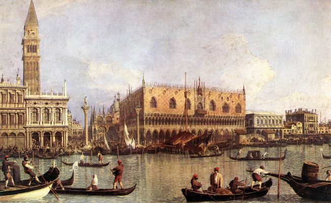 Giovanni Antonio Canal (Canaletto). Pier at the Cathedral of San Marco