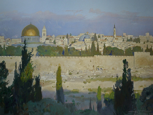 Dmitry Anatolyevich Belyukin. Jerusalem. Morning after thunderstorm