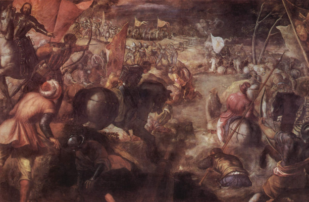 Jacopo (Robusti) Tintoretto. Battle of the Tarot