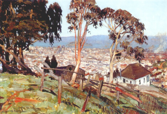 Дж Страницы. Вид из Твин Пикс, острова Йерба Буэна