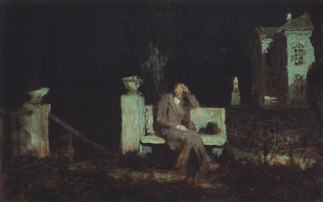 Arkhip Ivanovich Kuindzhi. Moonlit night. Meditation