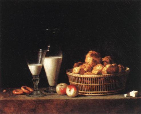 Henri-Oras Roland Delaporte. Still life with carafe of barley wine