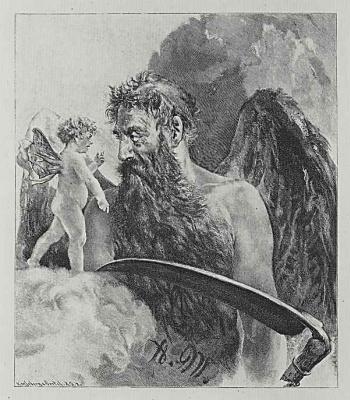 Адольф фон Менцель. Кронос и гений искусства Менцеля