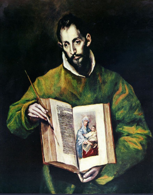 Domenico Theotokopoulos (El Greco). Saint Luke as a painter