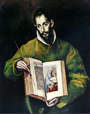 Domenico Theotokopoulos (El Greco). Saint Luke as a painter