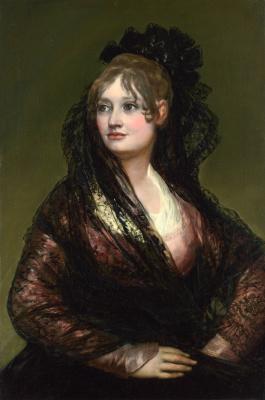 Francisco Goya. Portrait of doña Isabel Cobos de Porcel