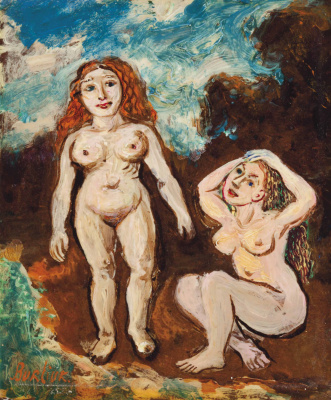 David Davidovich Burliuk. Two naked women