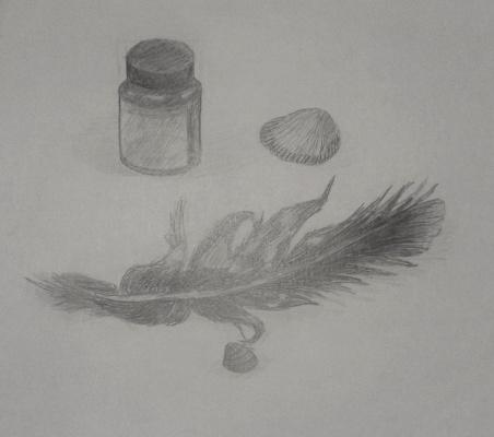 Zina Vladimirovna Parisva. Still life with feather