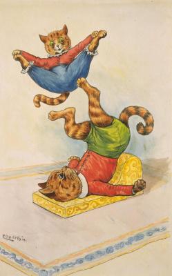 Louis Wain. Feline circus. Acrobats