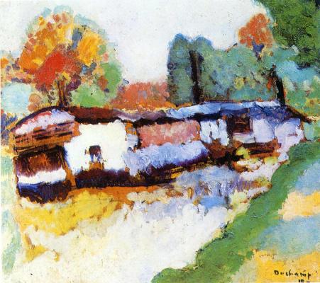 Marcel Duchamp. Laundry barge