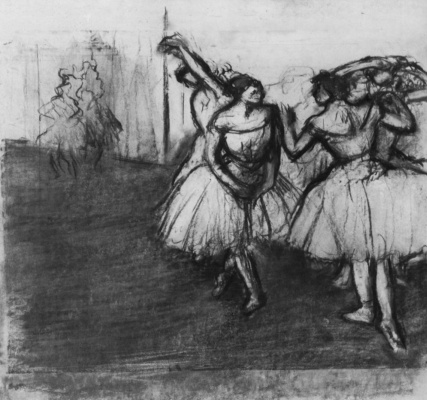 Edgar Degas. Ballerina on stage