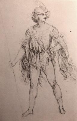 Леонардо да Винчи. Салаи в фантазийном костюме