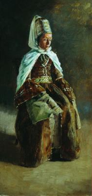 Nikolay Aleksandrovich Yaroshenko. Kabardinka. 1880-e Sketch