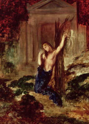 Gustave Moreau. Orpheus at the tomb of Eurydice