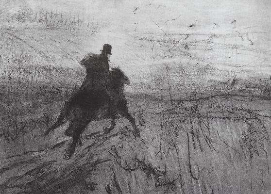 Valentin Aleksandrovich Serov. Pushkin in the village
