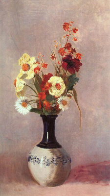Odilon Redon. Vase of flowers