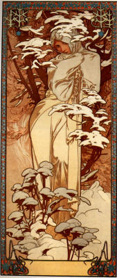 Alphonse Mucha. Winter