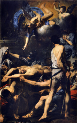 Valentin de Boulogne. The martyrdom of saints Martinian and Process