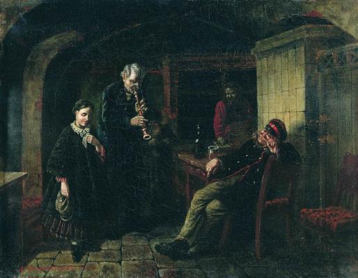 Leonid Ivanovich Solomatkin. In the cellar
