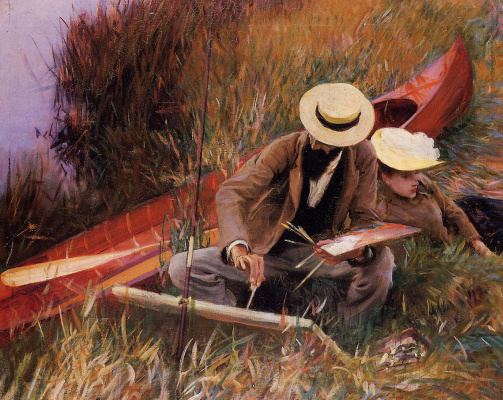 John Singer Sargent. In the open air. Paul helleu with his wife