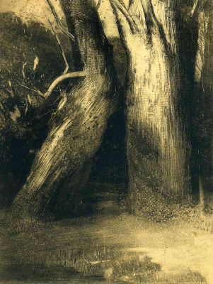Odilon Redon. Two trees