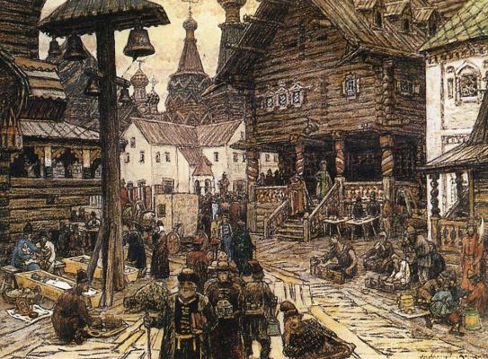Apollinarius Mikhailovich Vasnetsov. On the sacrum in Kitay-Gorod