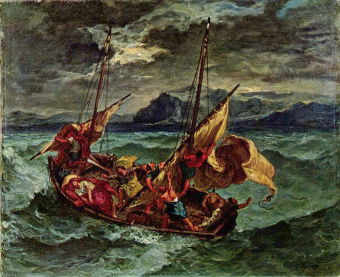 Eugene Delacroix. Christ on the lake of Gennesaret