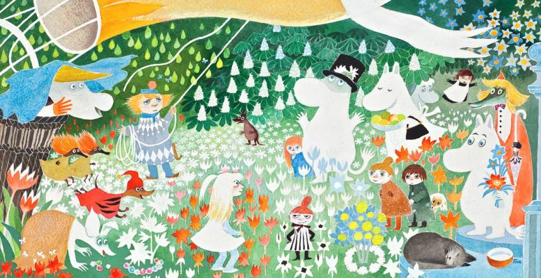 "Tove Jansson. Illustration for the story ""Dangerous Journey"" by T. Jansson"