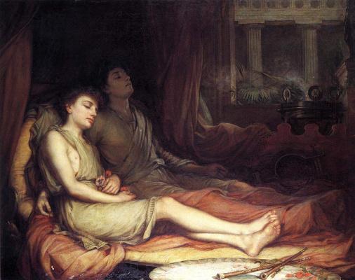 John William Waterhouse. Sleep and his half brother Death