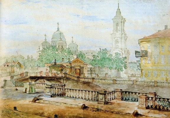 Vasily Semenovich Sadovnikov. The Catherine canal at the ascension Church