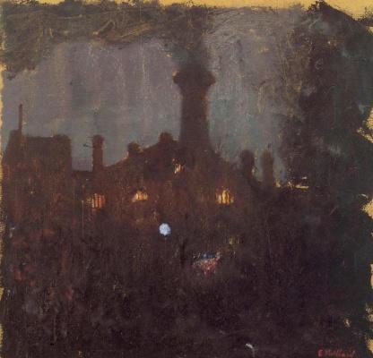 Жан Эдуар Вюйар. Фабрика. Большая труба ночью