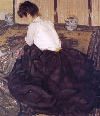 Альфред Генри Маурер. Девушка в черной юбке