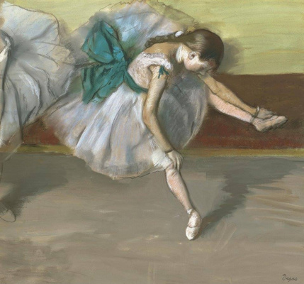 Edgar Degas. Resting dancer