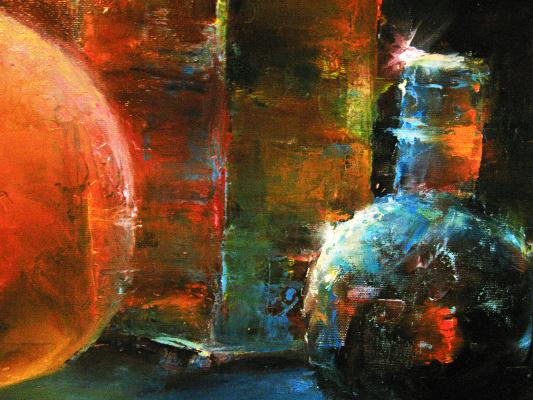 Andrei Ivanovich Boravik. Evening light (fragment)
