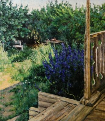 Sergey Arsenievich Vinogradov. In the garden