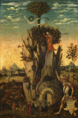 Лукас Кранах Младший 1515-1586. Аллегория добродетели. 1548