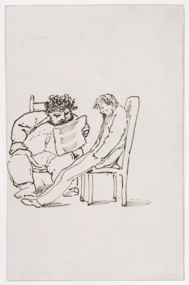 Edward Coley Burne-Jones. William Morris reads poeia Burne-Jones