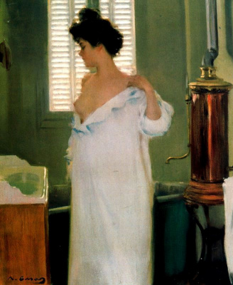 Ramon Casas i Carbó. In front of the bathroom