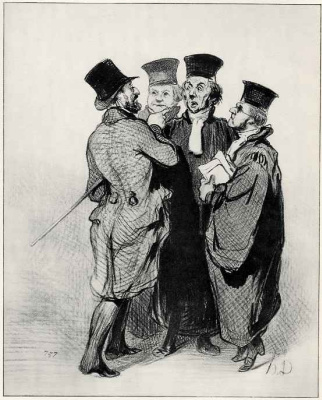 Honore Daumier. The complaint